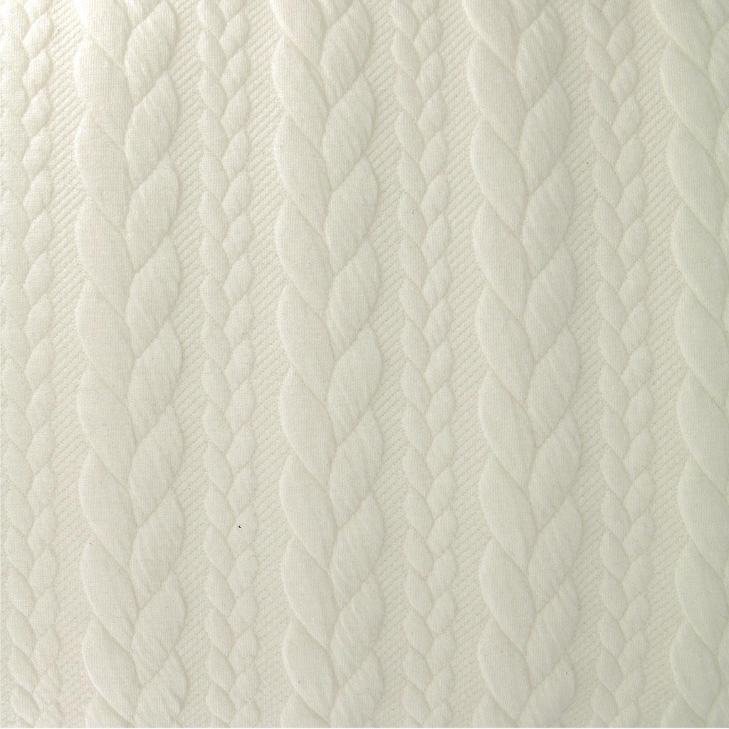 Tela jersey Acolchado - Eslabones Retorcidos - Color Crudo x10cm ...