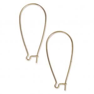 44aa9128eb51 ... Ganchos de pendientes de metal para trabajos de bisutería 44 mm dorado  x2