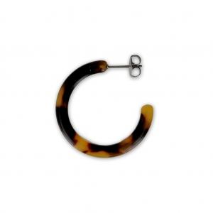 e5b35bf0bc8f Pendientes Aros de acetato de celulosa 30x3 mm Escamas de tortuga Marrón  Negro x2