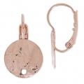 d4a70623ccbe Ganchos pendientes discos arrugado un agujero 12 mm dorado rosa HQ x2 -  Perles   Co