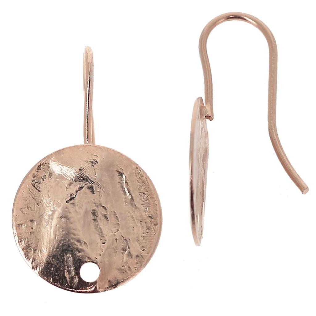dadbda571bdc Ganchos pendientes discos arrugado un agujero 12 mm dorado rosa HQ ...