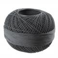 Hilo de algodón Lizbeth talla 80 Charcoal n°606 x168m