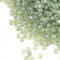 Rocailles Matubo 11/0 - 2.10 mm Transparente Green Luster x10g