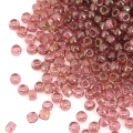 Rocailles Matubo 11/0 - 2.10 mm Transparente Rosa Luster x10g