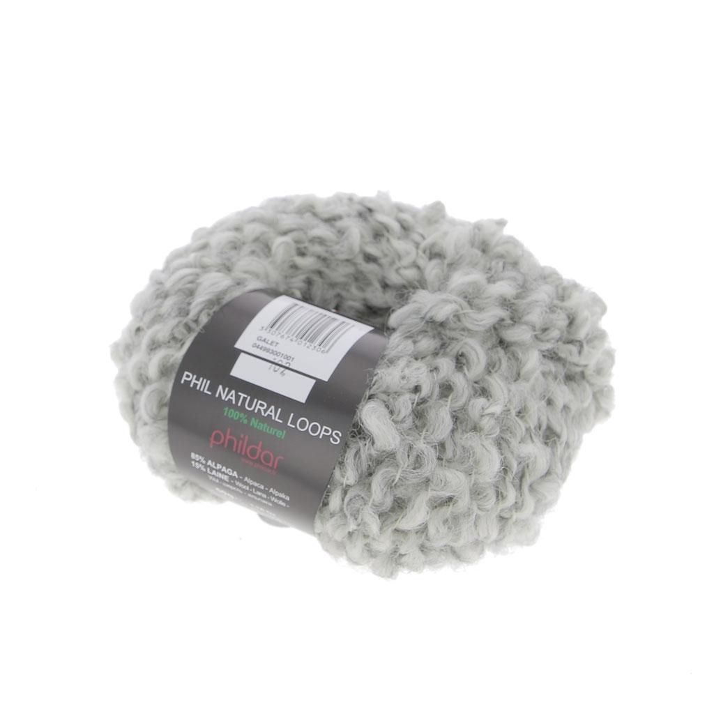 Lana Phil Natural Loops - 100 % Natural - Galet x100g - Perles & Co