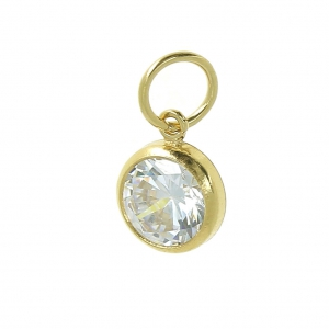 c0f80150af71 Colgante 9x6.7 mm con anilla cerrada perpendicula- Crystal Gold filled 14  kilates ...