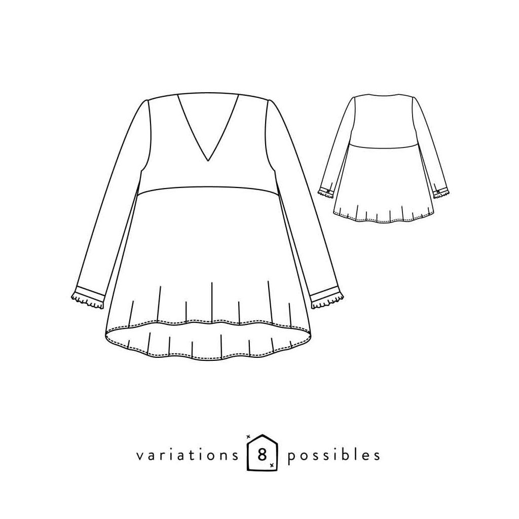 Patron Atelier Scämmit - Zephir - 8 posibilidades - Blusa - Perles & Co