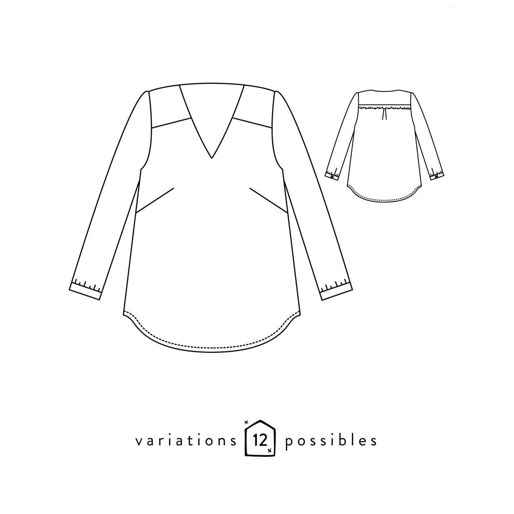 Patron Atelier Scämmit - Be Pretty - 12 posibilidades - Blusa ...