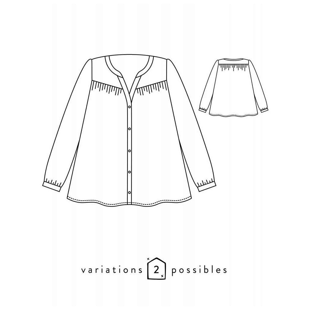 Patron Atelier Scämmit - Envol - 2 posibilidades - Blusa - Perles & Co