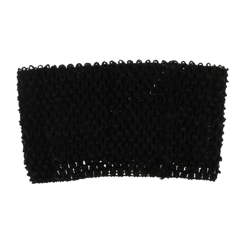 fb0a6d03b Cuerpo ganchillo para hacer un bustier / vestido / tutú / disfraz 23x21 cm  Negro