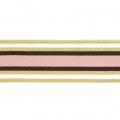 Cinta elástica fantasía ancha a rayas costura 40 mm Blanco Rosa lúrex  Dorado x 1m 0e0ef7c33bbe
