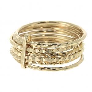 6b2cb913a3de Anillo semanario talla 60 Chapado de Oro 3 micras - Perles   Co