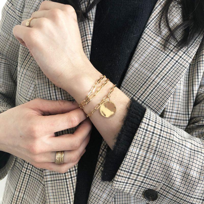 Anillo semanario talla 60 Chapado de Oro 3 micras - Perles   Co 96381c6b2ad