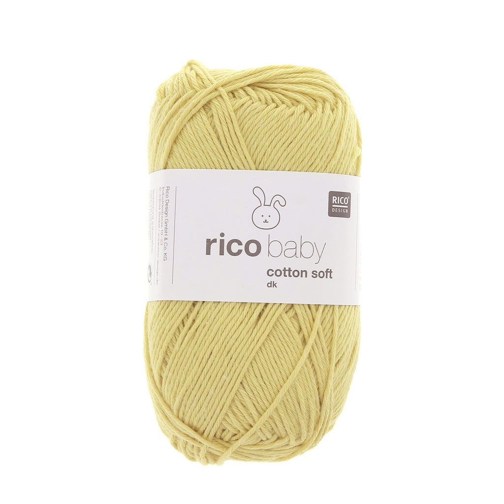 4c064c015cb79 Lana Rico Baby Cotton Soft dk - Rico Design - Safran 059 x 50g - Perles   Co