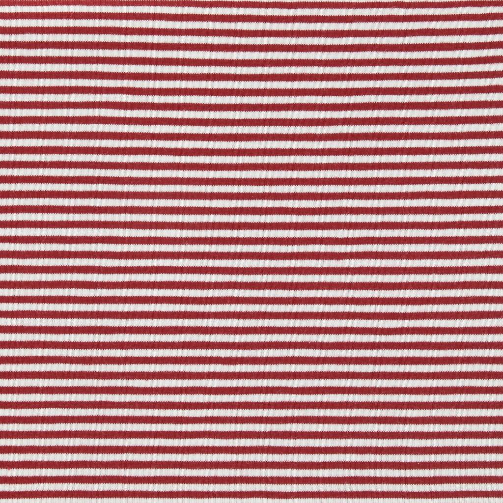 143475101801 Tela jersey Stenzo à rayures 3 mm Rouge / Blanc x10cm - Perles & Co