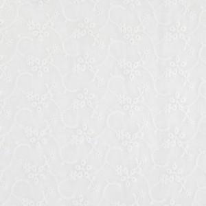 a74166fc5a6f Tela de algodón bordado Inglesa - Champêtre - Blanco x10cm ...
