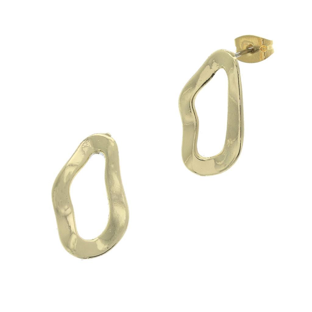 Perles /& Co Ganchos para Pendientes Decorados 20 mm Dorado x2