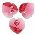 Corazones Swarovski 6228 Indian Pink 10,3x10 mm x6