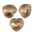 Corazones Swarovski 6228 Crystal Golden Shadow 10,3x10 mm x6