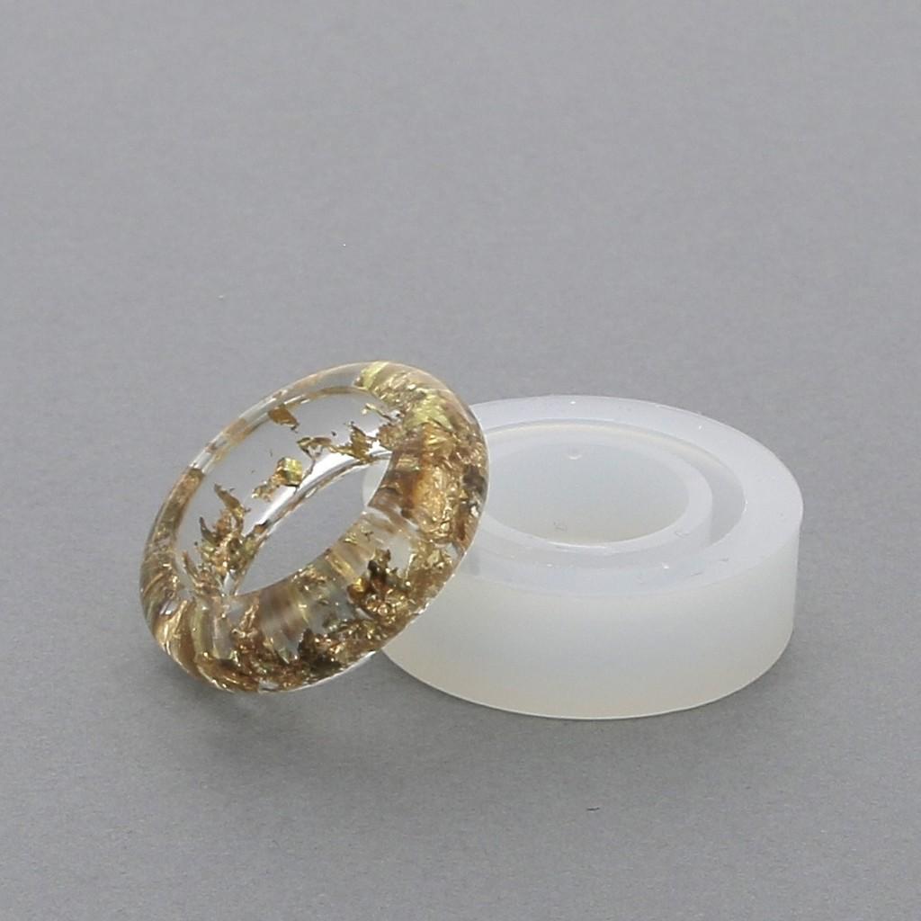 Molde Silicona Para Hacer Anillos De Resina Talla 56 X1 Perles Co