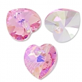 Corazones Swarovski 6228 Light Rose AB 10,3x10 mm x6