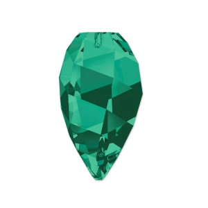 Twisted Drop Swarovski 6540 12 mm Emerald x1