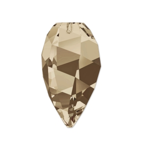 Twisted Drop Swarovski 6540 12 mm Smoky Quartz x1