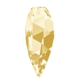 Twisted Drop Swarovski 6540 20mm Crystal Golden Shadow x1