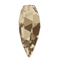 Twisted Drop Swarovski 6540 20 mm Smoky Quartz x1