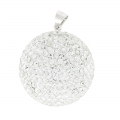 Colgante bola embarazo con strass 25 mm Crystal x1