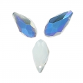 Briolettes 12x6 mm Grey Opal Blue Iris x50