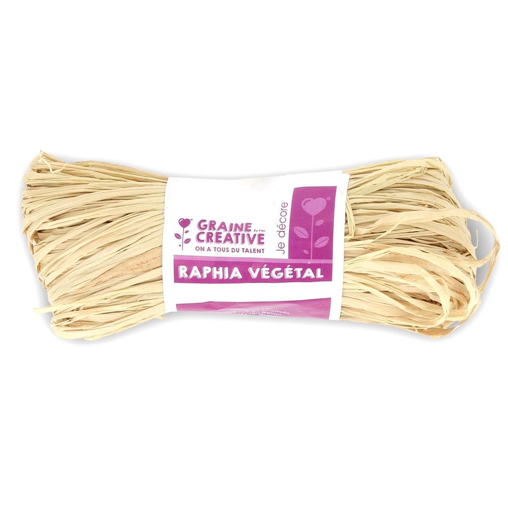 Madeja de rafia vegetal Natural x50g - Perles & Co