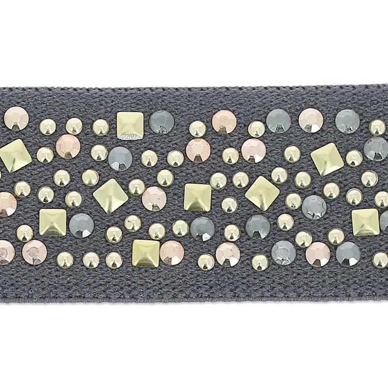 Cinta elastica con clavos 25 mm Grís Antracita x 25cm - Perles   Co 54dc149ad441