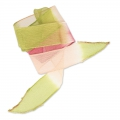 Cinta de seda 25 mm Tie and Dye Lillie Olive/Rose/Framboise x85cm