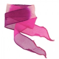 Cinta de seda 25 mm Tie and Dye Princess Rose/Fuchsia/Purple x85cm