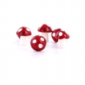 Setas 12 mm Blanco/Rojo x4