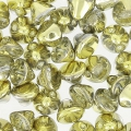 Button Bead 4 mm Crystal Dorado x50