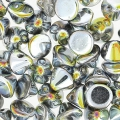 Button Bead 4 mm Crystal Full Marea x50