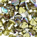 Button Bead 4 mm Crystal Golden Rainbow x50