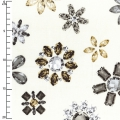 Tejido Be Jeweled - Ecru Objects Of Desire x10cm