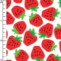 Tejido Fruit Salad - White Strawberry Fields x10cm