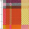 Tejido Breezy Blooms - Multi Check Dot Plaid x10cm