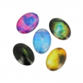 Cabochons ovalados decorados 18x13 mm Galaxy x10