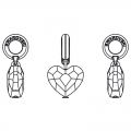 Love Charms Swarovski 87004 12 mm Crystal Antique Pink x1