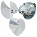 Corazones Swarovski 6228 10,3x10 mm Crystal Light Chrome x6