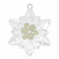 Pavé Pendant Swarovski 67442 20 mm Crystal Moonlight/Lt Grey Opal x1