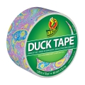Adhesivo Duck Tape con motivos 48 mm Purple Paisley x9m