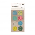 Stickers Paper Poetry Circulos de papel Washi 25 mm Multicolore x32