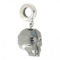 Skull Charms Swarovski 87008 13 mm Crystal Silver Night 2X x1