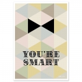 Tarjeta postal Fifi Mandirac 15x10.5 cm You're Smart x1